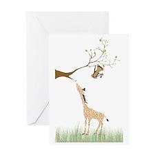 geraffie_monkey_poster-01 Greeting Card