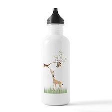 geraffie_monkey_poster Water Bottle