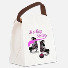 hockey_sister_pink Canvas Lunch Bag
