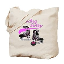 hockey_sister_pink Tote Bag