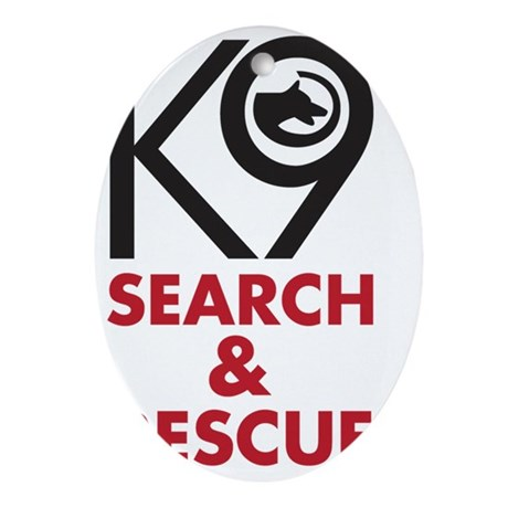 SearchRescue Oval Ornament