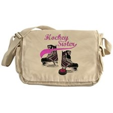 hockey_sister_pink Messenger Bag
