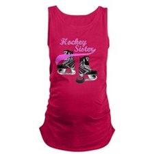 hockey_sister_pink Maternity Tank Top