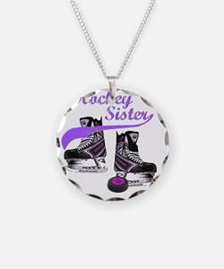 hockey_sister_purple Necklace