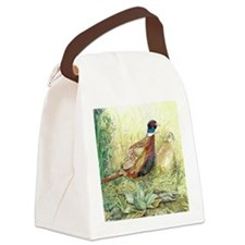 Pheasants Nesting Canvas Lunch Bag