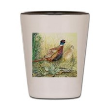 Pheasants Nesting Shot Glass