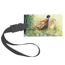 Pheasants Nesting Luggage Tag