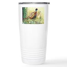 Pheasants Nesting Ceramic Travel Mug