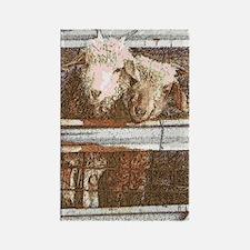 artsy goatsy Rectangle Magnet