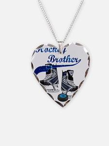 hockey_brother_dark_blue Necklace Heart Charm