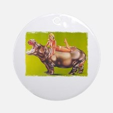 hippofunnypng Round Ornament