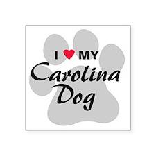 """carolina-dog Square Sticker 3"""" x 3"""""""