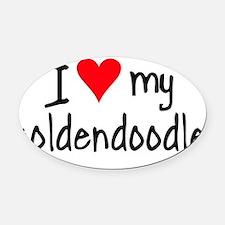 I LOVE MY Goldendoodle Oval Car Magnet