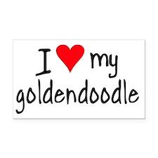 I LOVE MY Goldendoodle Rectangle Car Magnet