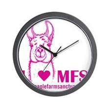 i heart magenta Wall Clock