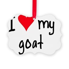 iheartgoat Ornament