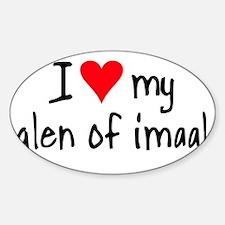 I LOVE MY Glen of Imaal Sticker (Oval)