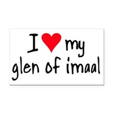 I LOVE MY Glen of Imaal Rectangle Car Magnet