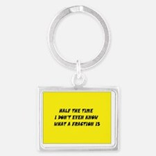 Half The Time Landscape Keychain