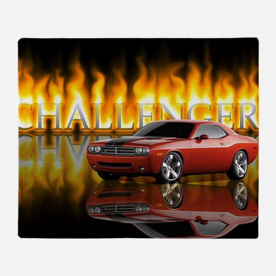 dodge chall Throw Blanket