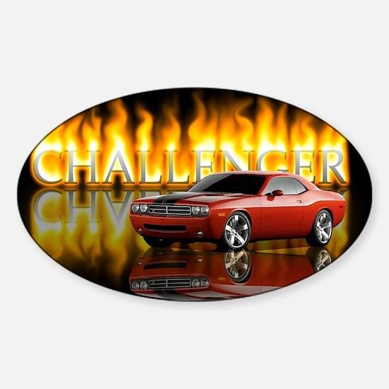 dodge chall Sticker (Oval)