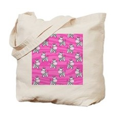 Pink Zebra Flip Flops Tote Bag