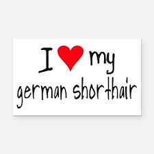 I LOVE MY German Shorthair Rectangle Car Magnet