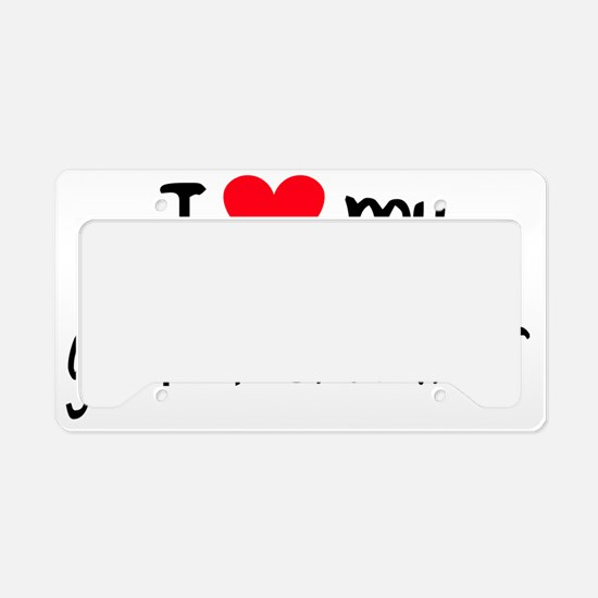 I LOVE MY German Shorthair License Plate Holder