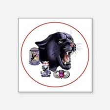 """Panther v2_2nd-505th-White Square Sticker 3"""" x 3"""""""
