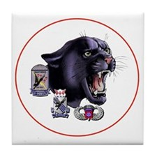 Panther v2_2nd-505th-White Tile Coaster