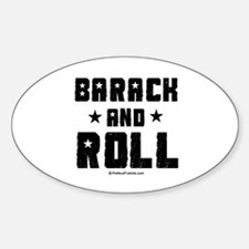 Barack and Roll Oval Decal