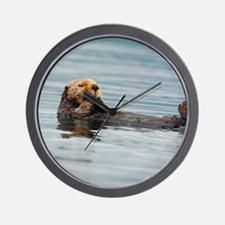 5x8_journal_otter_6 Wall Clock