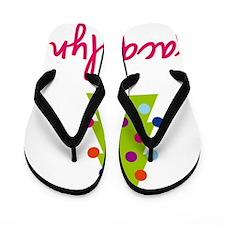 Christmas-tree-Jacquelyn Flip Flops
