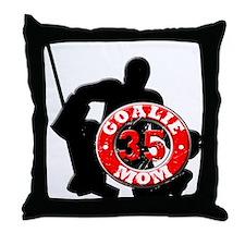hockey Goalie Mom #35 Throw Pillow