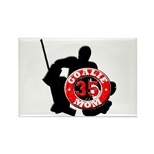 hockey Goalie Mom #35 Rectangle Magnet