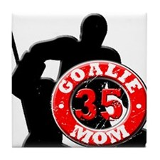 hockey Goalie Mom #35 Tile Coaster