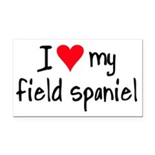 I LOVE MY Field Spaniel Rectangle Car Magnet
