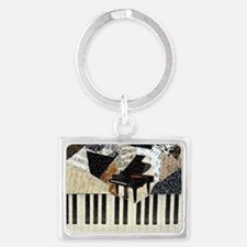 Piano Landscape Keychain