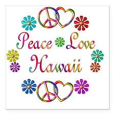 "hawaii Square Car Magnet 3"" x 3"""