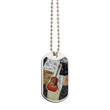 guitar-oval-ornament Dog Tags