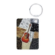 guitar-oval-ornament Keychains