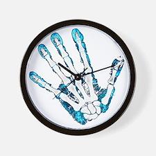 Blue Hand Wall Clock