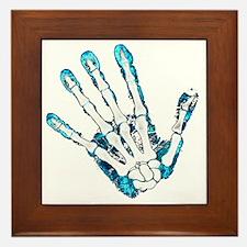Blue Hand Framed Tile