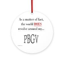PBGV World Ornament (Round)