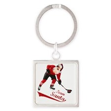 team_santa Square Keychain