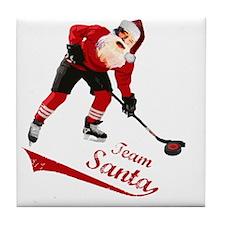 team_santa Tile Coaster