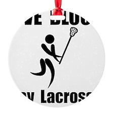 Lacrosse Give Blood Black Ornament