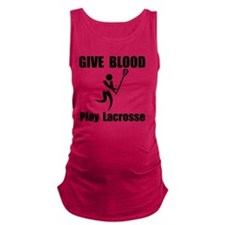 Lacrosse Give Blood Black Maternity Tank Top