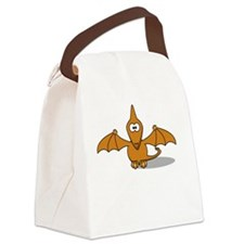 Early Bird Special White Canvas Lunch Bag