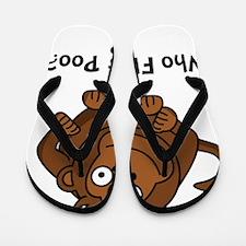 Monkey Flung Poo Black Flip Flops